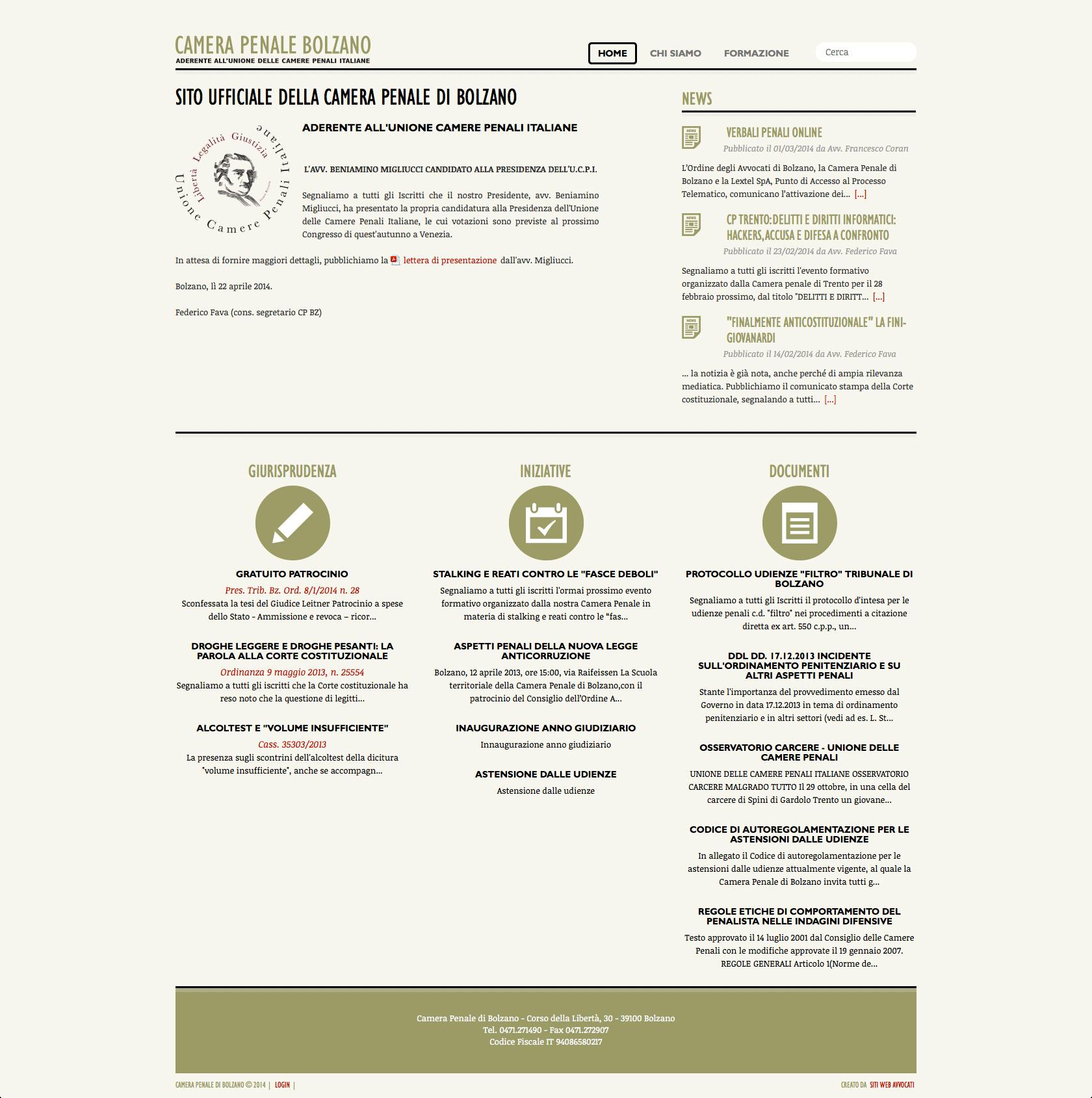 Camera penale di bolzano siti web avvocati for Siti web di home plan